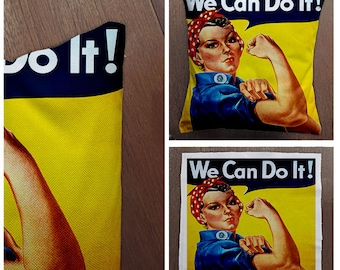 We Can Do It War Time -Cushion Cover Case Or Stuffed With Insert