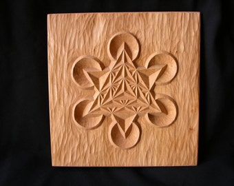 Yoga artwork, Merkaba Star of David, Sacred geometry gift, Star Tetrahedron carving, Wooden Wall Art Decor, Mandala wall hanging