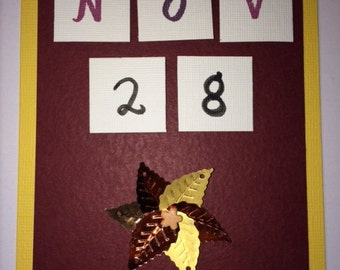 Thanksgiving Card- November 28