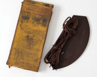 vintage C.A. Lund snow shoe sandals with original box