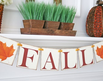 Fall Banner, Thanksgiving Banner, Fall Decoration, Thanksgiving Decor,  Autumn Decoration, Fall Garland, Fall Bunting, Fall Leaves