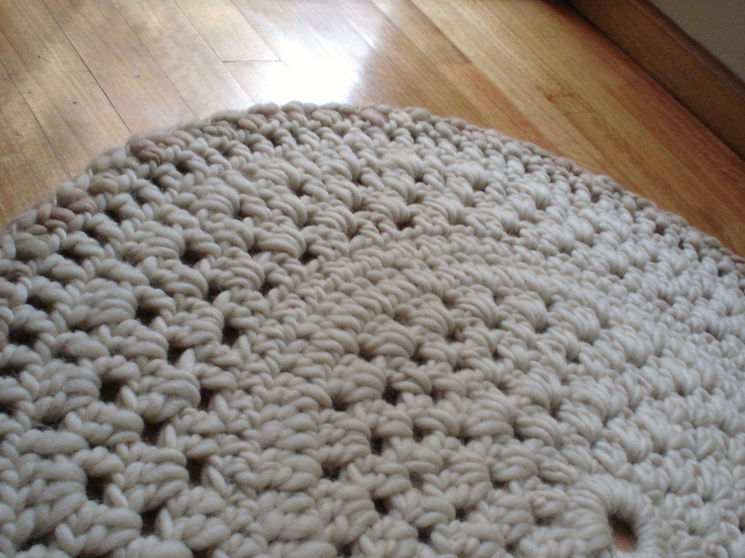 Crocheting Round Rugs : WOOL RUG Area Rug Crochet Rug Knit Rug Round Rug by LaParlavecchia