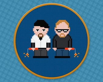 Mythbusters TV Characters - Cross Stitch Pattern