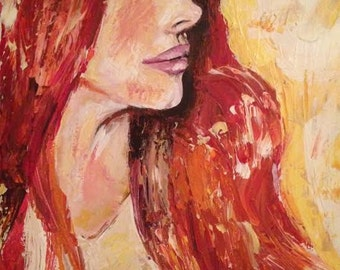 Redheaded Woman Portrait
