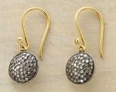 Victorian Estate Star Style 1.55ct Rose Cut Diamond Antique Look Handmade Earrings Stud