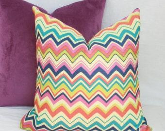 "Multicolor chevron decorative throw pillow cover. 18"" x 18"".20"" x 20"". 12"" x 18"". 12"" x 20"". 13"" x 20"" .designer pillow cover."