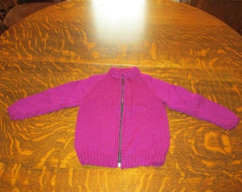 hand knitted sweater toddlers size 2