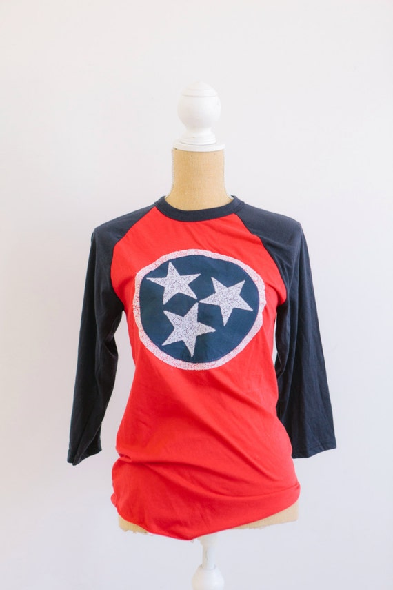 Items Similar To Womens Lace TN Flag Inspired Tri Star 3