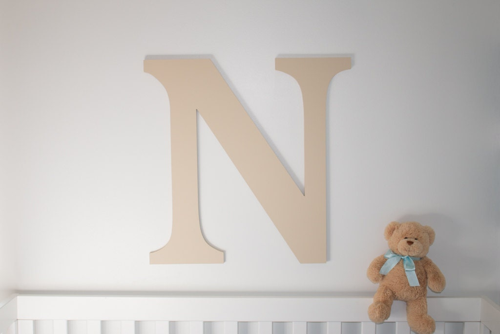 Large Wooden Letters For Wall Decor : Large wooden letter baby nursery decor wall hanging