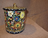 Vintage Colorfull Floral Design by Daher Cookie/Tea Tin or Container