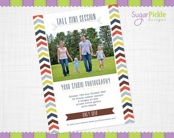 Fall Mini Session, Fall Template, Fall Flyer, Mini Session Template, Flyer Template,
