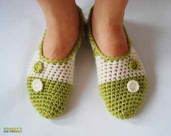 Handmade girl / woman slippers