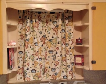 "Custom Curtains - TWO panels with tab tops - choose your own fabric and size - 23"" W x 38"" L"