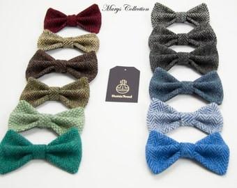 Harris Tweed Pre-Tied Bow Ties Herringbone Selection Of Colours