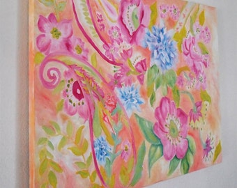 Impasto Floral oil painting by Stephanie P Cox
