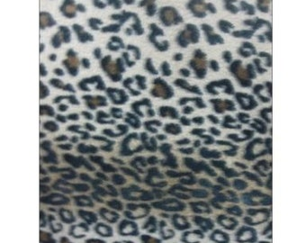 Leopard Browns Fleece Fabric By The Yard