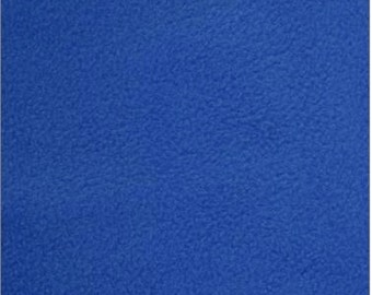 Solid Royal Blue Fleece Fabric By The Yard