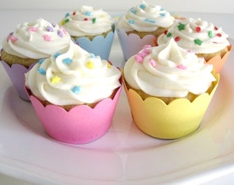 Pastel Cupcake Wrappers
