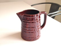 Vintage Marcrest Pitcher Brown Earthy Beauty!