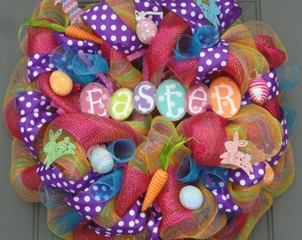 Easter Wreath, Spring Wreath, RAZ Wreath, Whimsical Wreath
