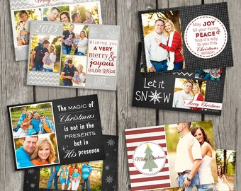 Christmas Cards - Christmas Photo Card - Christmas Templates for Photographers - CS03
