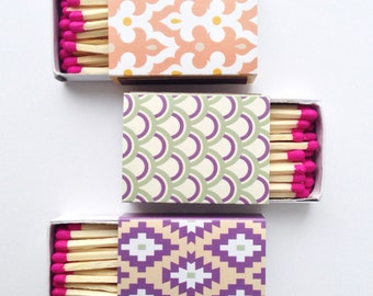 Decorative Matchboxes - set of 3