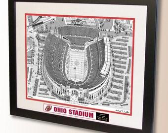 Ohio Stadium Art, home of the Ohio State Buckeyes