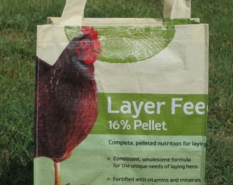 Recycled Chicken Feed Bag ~ Tote Bag
