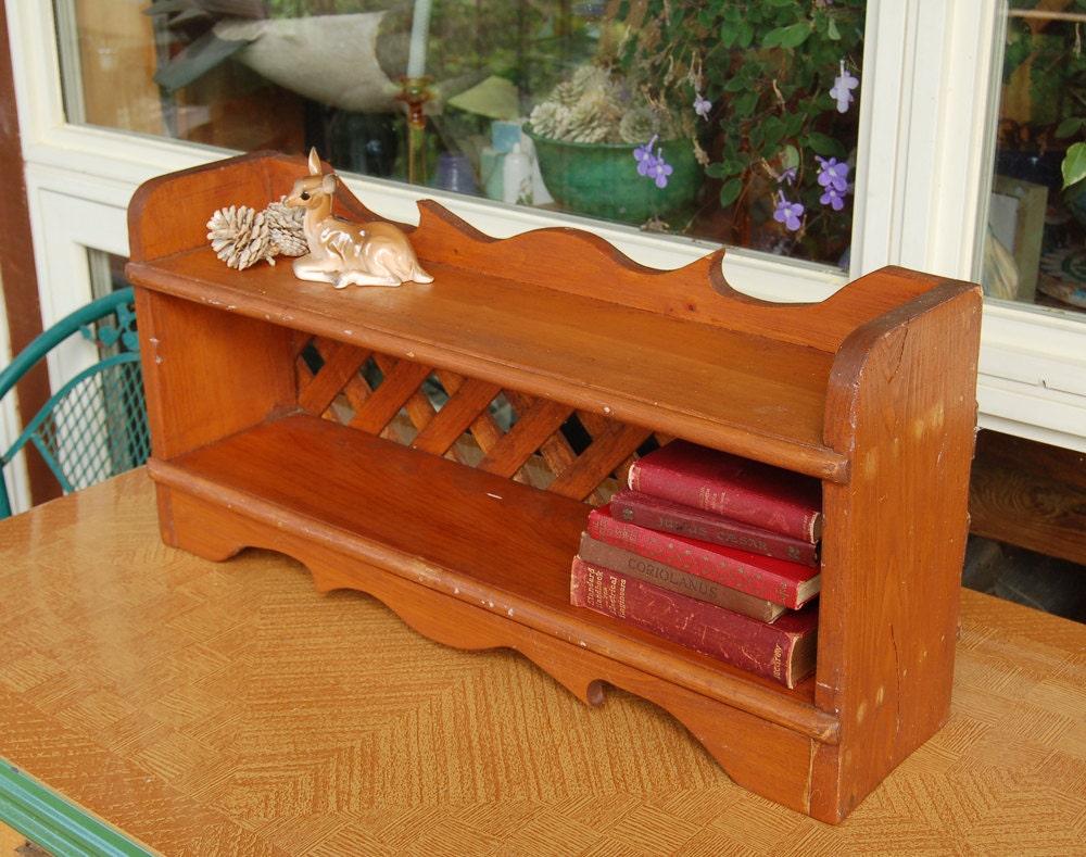 vintage desk top bookcase wooden shelf for by. Black Bedroom Furniture Sets. Home Design Ideas