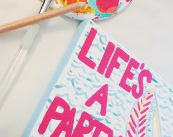 Lily Pulitzer Themed Canvas - Preppy and Hand Painted