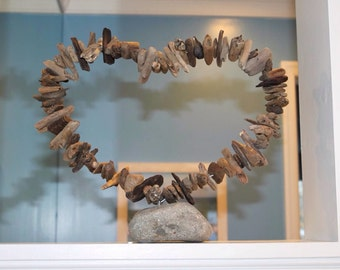 Driftwood hoop heart aproxitmaly 12x12 inches
