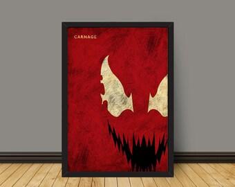Villain Carnage Poster Prints