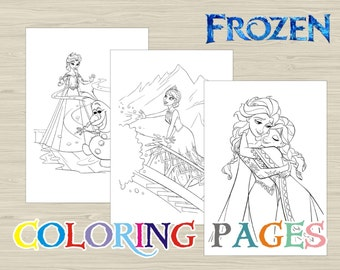 Disney FROZEN Coloring Pages Book