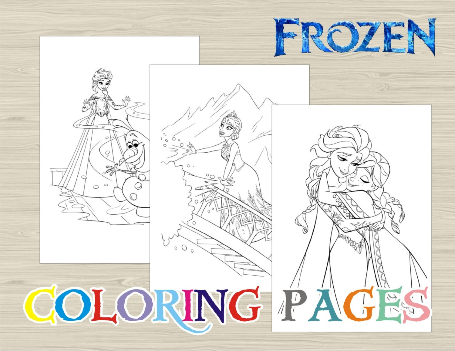 Frozen Coloring Pages A4 : Frozen colouring pages a free coloring of