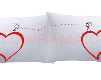 Heart to Heart Couple Super Soft Pillowcases