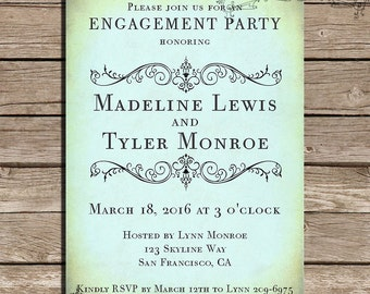Rustic Engagement Party Invitations