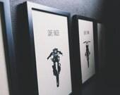 Set of 5 Rustic Motorcycle Prints