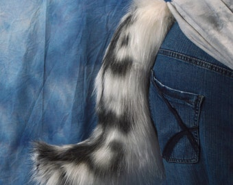 Swirled Stripe Wolf fursuit tail