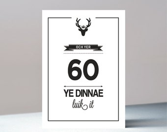 Och yer 60 - Scottish birthday greetings card