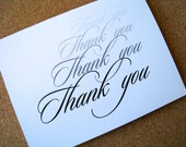 Thank you cards, thank you notes, blank - any occasion - PaperLovePrints
