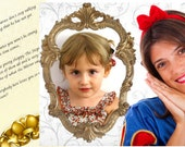 Digital Snow White Customized letters and pictures in your email- you can choose the text- perfect original birthday present for girls