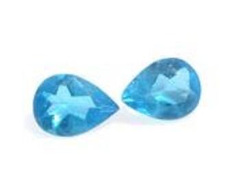 Neon Apatite Loose Gemstones Set of 2 Pear Cut 1A Quality 4x3mm TGW 0.20 cts.