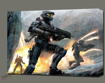 """Halo 3 Xbox Giclee Art W Gallery Wrap Ready To Hang Size 28X20X1.5"""" & Larger"""