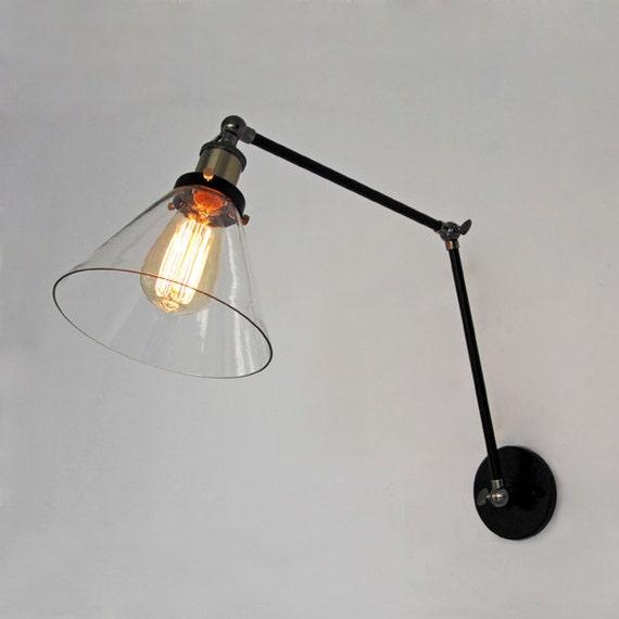 Applique da parete di vetro di stile country lampada da di ...