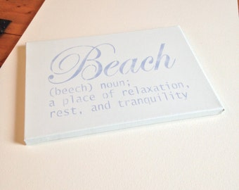 "Beach 10""x14"" Wall Canvas"