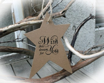 Baby Shower Decor - 25 BABY Shower Tags- Baby Shower Wishing Tree- I wish this dream for you
