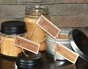 HOT APPLE PIE Maple Creek Candles ~ An American Classic ~ Soy Wax Blend, 3 sizes, Fun Rustic Lid