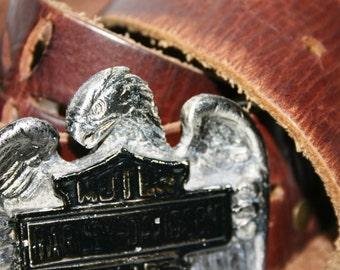 Awesome Vintage Harley Davidson Leather Belt