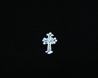 Vintage Silver cross floating charm fits Origami Owl lockets