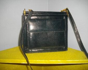 Sale 50%OFF/Blue snake leather beauty/ vintage 50 s bag/unique elegant bag/romantic bag